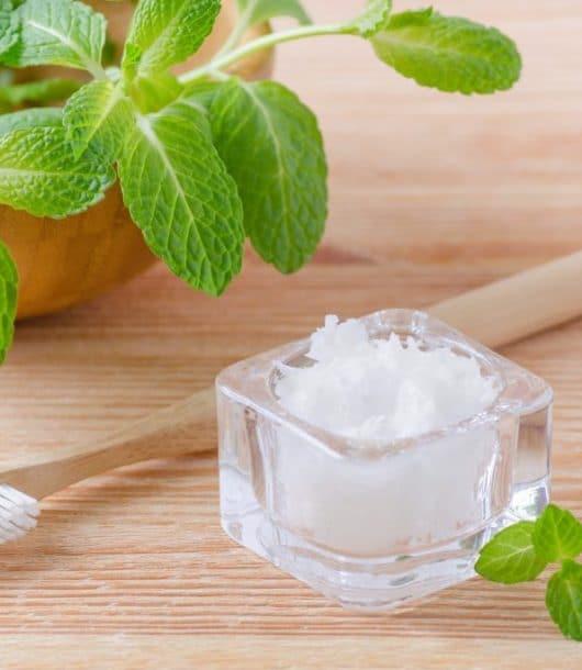 essential oil DIY toothpaste